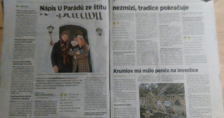 MF Dnes a Parádovic